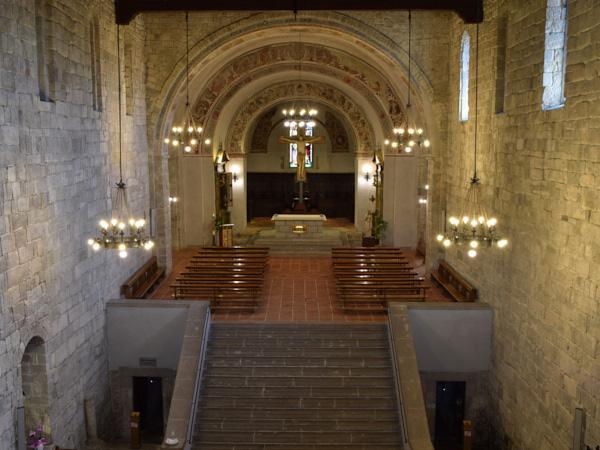 Interno dell'Abbazia di San Salvatore