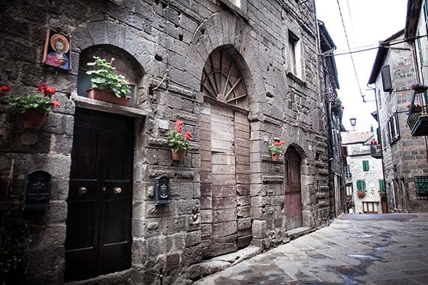 Vista del centro storico di Abbadia san salvatore