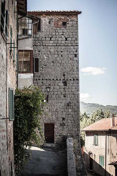 Zona Torrione centro storico di abbadia san salvatore